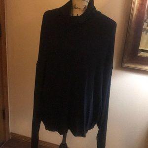Free people black knit turtleneck